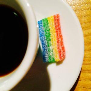 Pause café aux couleurs de la course