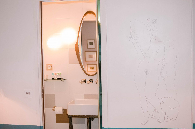 salle de bain hôtel le crayon